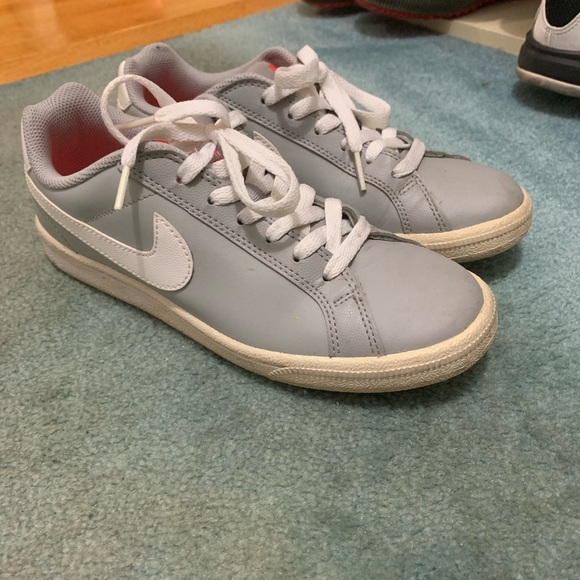 Nike Shoes - Nike Gray Sneakers with orange lining